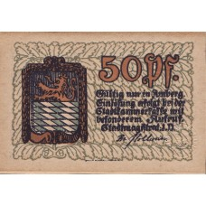 Amberg Stadt, 1x50pf, Set of 1 Note, A14.1