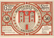 Colditz Stadt, 6x50pf, Set of 6 Notes, 239.1