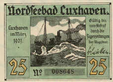Cuxhaven Stadt, 1x25pf, Set of 1 Note, 249.1