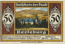 Berleburg Stadt, 1x50pf, 2x1mk, Set of 3 Notes, 80.1