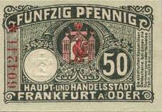 Frankfurt a.d. Oder Stadt, 50 Pfennig, F17.3b