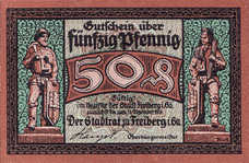 Freiberg Stadt, 1x50pf, Set of 1 Note, F19.5
