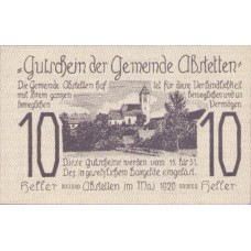 Abstetten N.Ö. Gemeinde, 1x10h, 1x20h, 1x50h, Set of 3 Notes, FS 2a