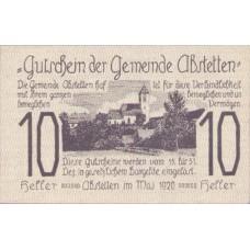 Abstetten N.Ö. Gemeinde, 1x10h, 1x20h, 1x50h, Set of 3 Notes, FS 2a