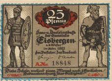 Eisbergen a.W. Spar und Darlehenskasse der Gemeinde, 1x25pf, 2x50pf, 1x1mk, Set of 4 Notes, 317.1a