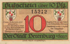 Derenburg Stadt, 1x10pf, 1x25pf, 1x50pf, Set of 3 Notes, 263.1