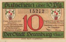 Derenburg Stadt, 1x10pf, 1x25pf, 1x50pf, Set of 3 Notes, 263.1