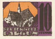 Dargun Gemeinde, 1x10pf, 1x25pf, 1x50pf, Set of 3 Notes, 257.1
