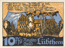 Lübtheen Gemeinde, 1x10pf, 1x25pf, 1x50pf, Set of 3 Notes, 834.1