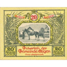 Aigen Stm. Gemeinde, 1x10h, 1x20h, 1x50h, Set of 3 Notes, FS 14h