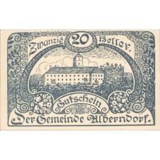 Alberndorf Gemeinde, 1x10h, 1x20h, 1x50h, Set of 3 Notes, FS 17a1