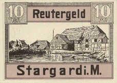 Stargard Stadt, 1x10pf, 1x25pf, 1x50pf, Set of 3 Notes, 1253.1