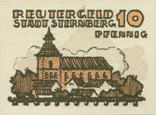 Sternberg Stadt, 1x10pf, 1x25pf, 1x50pf, Set of 3 Notes, 1268.1