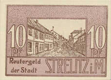 Strelitz Gemeinde, 1x10pf, 1x25pf, 1x50pf, Set of 3 Notes, 1283.1