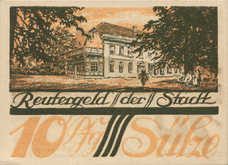 Sülze Stadt, 1x10pf, 1x25pf, 1x50pf, Set of 3 Notes, 1299.1