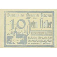 Alkoven O.Ö. Gemeinde, 1x10h, 1x20h, 1x50h, Set of 3 Notes, FS 18Ia