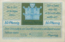 Oldenburg i. Holstein Stadt, 1x50pf, 1x75pf, Set of 2 Notes, 1015.2