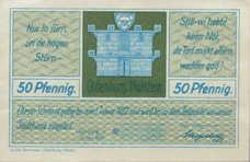 Oldenburg i. Holstein Stadt, 1x50pf, 1x75pf, Set of 2 Notes, 1015.2