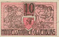 Oldenburg i.O. Handelskammer, 10 Pfennig, O19.4