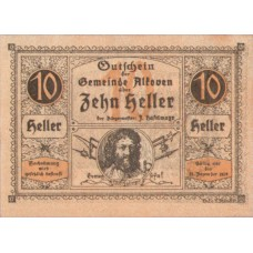 Alkoven O.Ö. Gemeinde, 1x10h, 1x20h, 1x50h, Set of 3 Notes, FS 18IId