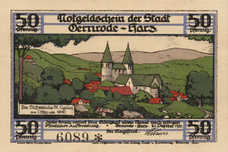 Gernrode a.H. Stadt, 6x50pf, 6x75pf, Set of 12 Notes, 423.4a
