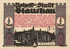 Glauchau Stadt, 6x.5mk, Set of 6 Notes, 436.3
