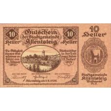 Allentsteig N.Ö. Stadtgemeinde, 1x10h, 1x20h, 1x50h, Set of 3 Notes, FS 20a