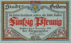 Geldern Stadt, 2x50pf, Set of 2 Notes, G5.1