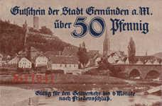 Gemünden a.M. Stadt, 50 Pfennig, G8.2a