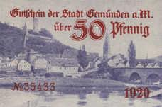 Gemünden a.M. Stadt, 50 Pfennig, G8.5a
