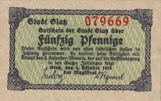 Glatz Stadt, 50 Pfennig, G16.1b