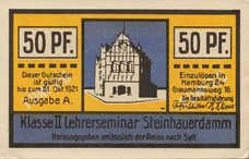 Hamburg Lehrerseminar Steinhauerdamm, Klasse II, 50 Pfennig, 543.1