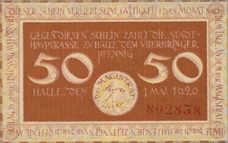 Halle Stadt, 50 Pfennig, H4.5a