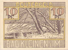 Kleinen, Bad Gemeinde, 1x10pf, 1x25pf, 1x50pf, Set of 3 Notes, 705.1