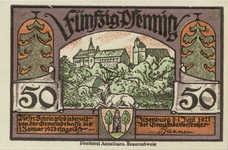 Ilsenburg Gemeinde, 2x50pf, Set of 2 Notes, 644.2e