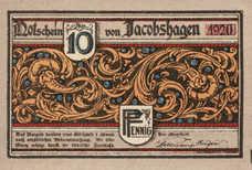Jacobshagen Stadt, 10 Pfennig, 651.1a