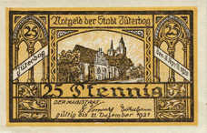 Jüterbog Stadt, 1x25pf, Set of 1 Note, J11.6