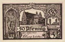 Jüterbog Stadt, 1x50pf, Set of 1 Note, J11.7