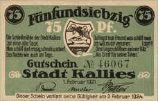 Kallies Stadt, 1x50pf, Set of 1 Note, 672.1