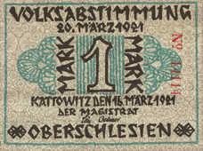 Kattowitz Stadt, 1 Mark, 681.1a