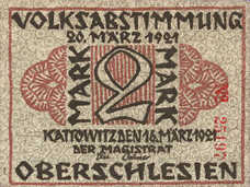 Kattowitz Stadt, 2 Mark, 681.1a