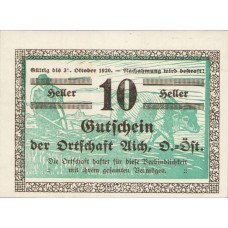 Aich O.Ö. Ortschaft, 1x10h, 1x20h, 1x50h, Set of 3 Notes, FS 10a