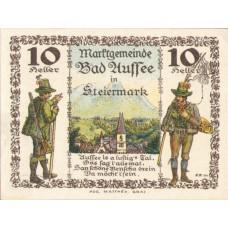 Bad Aussee Stm. Marktgemeinde, 1x10h, 1x20h, 1x50h, 1x80h, Set of 4 Notes, FS 73