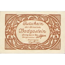Bad Gastein Sbg. Gemeinde, 1x10h, 1x30h, 1x60h, Set of 3 Notes, FS 75Ia