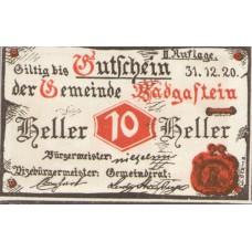 Bad Gastein Sbg. Gemeinde, 1x10h, 1x30h, 1x60h, Set of 3 Notes, FS 75IIa