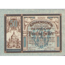 Berndorf N.Ö. Stadtgemeinde, 1x20h, 1x30h, 1x50h, Set of 3 Notes, FS 83a
