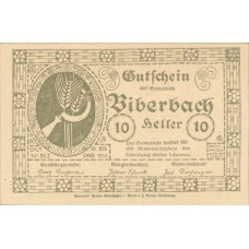 Biberbach N.Ö. Gemeinde, 1x10h, 1x20h, 1x50h, Set of 3 Notes, FS 86IIc