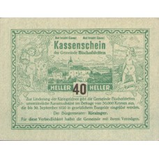 Bischofstetten N.Ö. Gemeinde, 1x40h, 1x80h, Set of 2 Notes, FS 92b