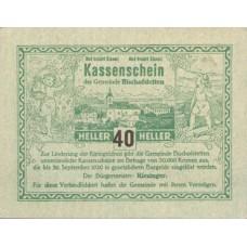 Bischofstetten N.Ö. Gemeinde, 1x40h, 1x80h, Set of 2 Notes, FS 92b