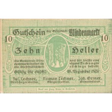Blindenmarkt N.Ö. Gemeinde, 1x10h, 1x20h, 1x50h, Set of 3 Notes, FS 93Ih